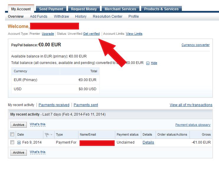 kaip patvirtinti banko kortelę su PayPal